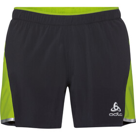 Odlo Zeroweight Ceramicool 2-In-1 Shorts Men black-acid lime